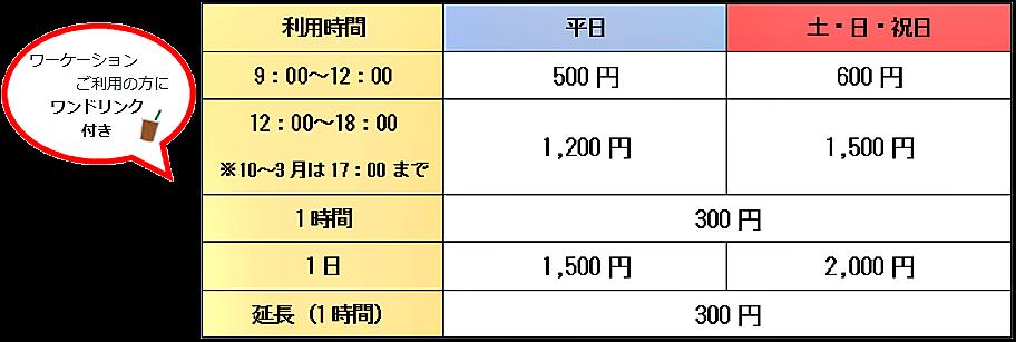 料金表912×307