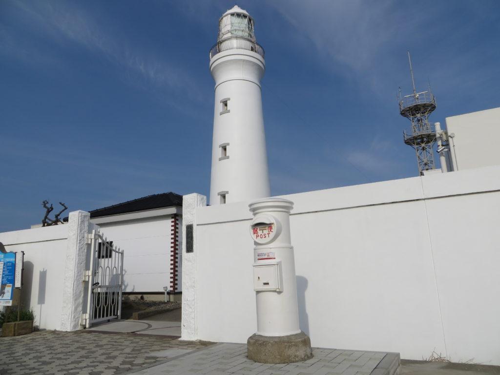 犬吠埼灯台と白いポスト